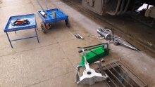 Процесс подготовки к работе устройства возле вагона на ПТО